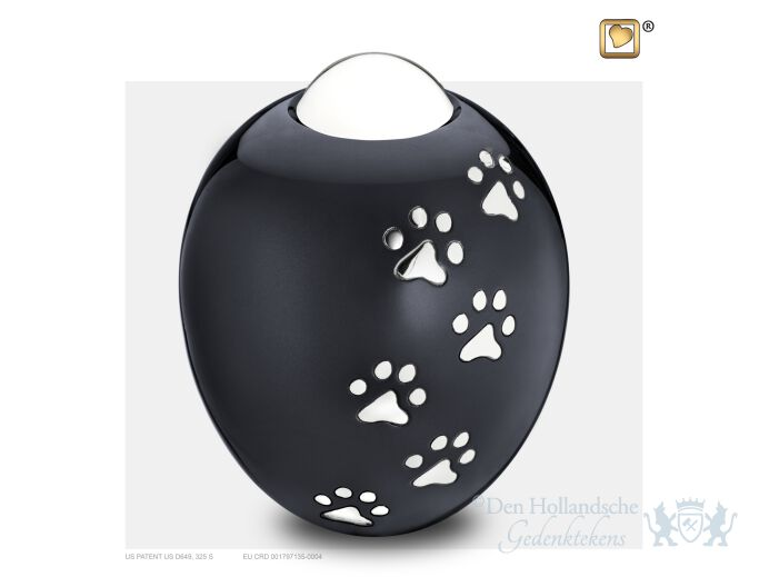 Adore Large Pet Urn Midnight and Pol Silver foto 1