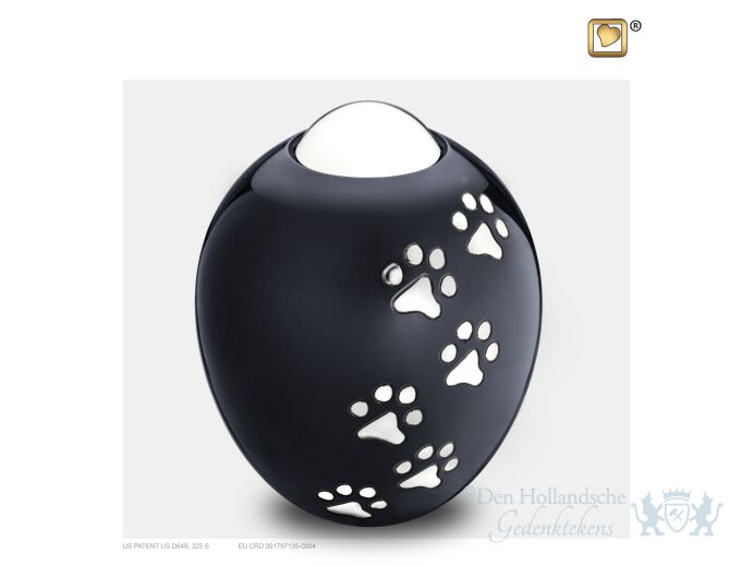 Adore Medium Pet Urn Midnight and Pol Silver foto 1