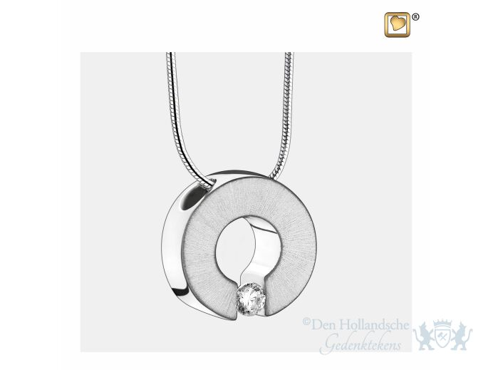 Omega Ashes Pendant Pol and Bru Silver w/Zirconia foto 1