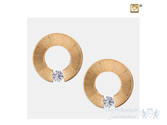 Omega Stud Earrings Pol and Bru Gold Vermeil foto 1
