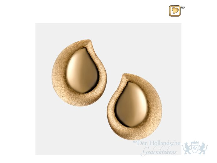 TearDrop Stud Earrings Pol and Bru Gold Vermeil foto 1