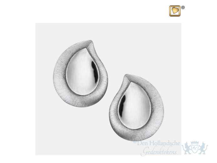 TearDrop Stud Earrings Pol and Bru Silver foto 1