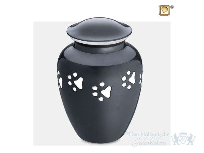 Classic Large Pet Urn Midnight and Bru Pewter foto 1