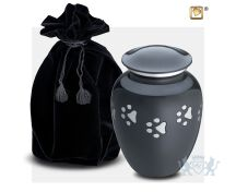 Classic Small Pet Urn Midnight and Bru Pewter foto 1