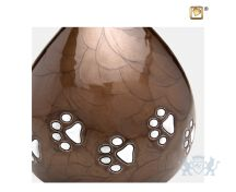 LoveDrop Pet Urn Pearl Bronze and Bru Pewter foto 1