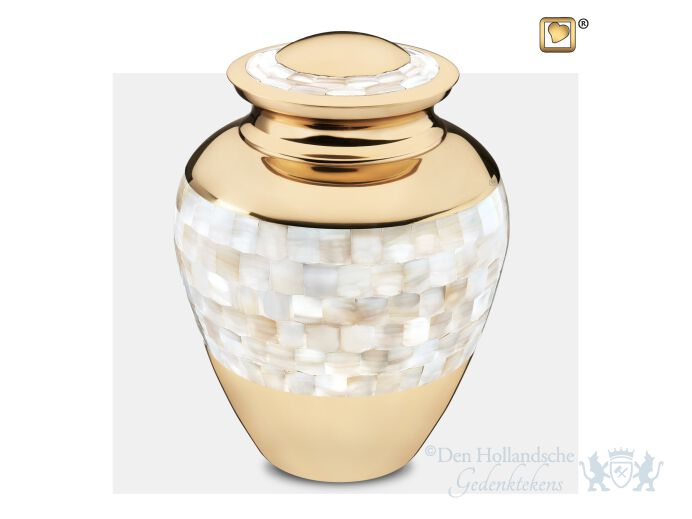 Mother of Pearl Adult Urn Pol Gold foto 1